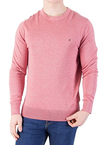 Tommy Hilfiger Men's Cotton Silk Knit, Red, Large by Tommy Hilfiger