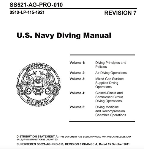 Manuals Combined: U.S. Navy Diving Manual Revision 7 (1 December 2016); A Navy Diving Supervisor's Guide for Safe and Productive Diving Operations; and Guidance For Diving In Contaminated (Us Navy Diving Manual)