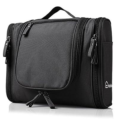 Heavy Duty Waterproof Hanging Toiletry Bag - Travel Cosmetic Makeup Bag for Women & Shaving Kit Organizer Bag for Men - Size: 10.2 x 4.5 x 8.5 Inch