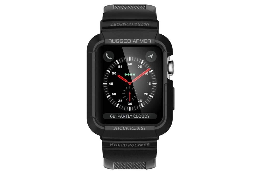 Spigen Rugged Armor Pro Designed for Apple Watch Case for 38mm Series 3/2/1/Original (2015) - Black by Spigen