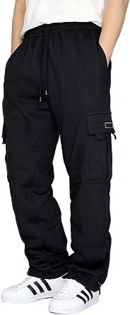 MEN/'S FLEECE CARGO SWEATPANTS HEAVYWEIGHT M-3XL 4 COLOR