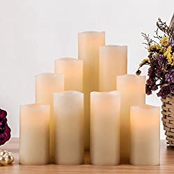 Pandaing Flameless Candles, Battery Operated Real