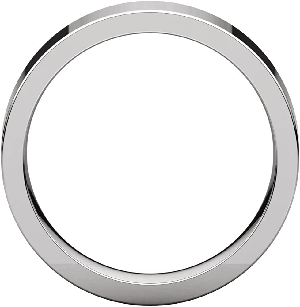 FB Jewels 925 Sterling Silver 5mm Flat Comfort Fit Mens Wedding Ring Band