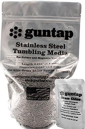 """0.047/"""" Diameter 0.255/"""" Length 3 lb Stainless Steel Tumbling Media Pins"""