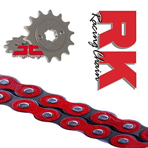 RK Racing Red Chain and Sprocket Set for Honda MSX125 Grom