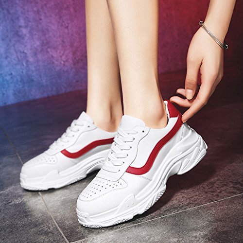 White Casual Red White White mujer Thick red HWF Shoes Zapatos Zapatos 39 Bottom deportivos Tamaño Zapatos mujer de Wild Color para ZwqFfxPwB