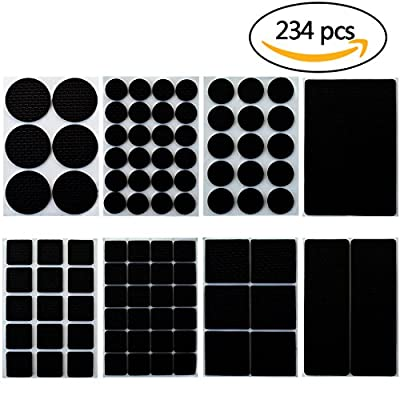 234 Pcs Furniture Pads, Ishua Lightweight Non Slip Furniture Feet Pads With Self-adhesive,Anti Slip Rubber Chair Leg Covers Mat Protect Hardwood Laminate Tile Flooring Wood Floor Multi Sizes