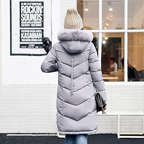 Chaofanjiancai Clearance Women Outerwear Fur Hooded Coat Long Cotton-Padded Pocket Jackets Coats