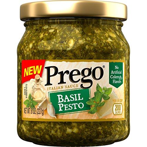 Prego Pasta Sauce, Basil Pesto Sauce, 8 Ounce Jar