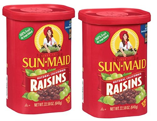 Sun Maid Natural California Raisins , 22.58oz (Pack of 2)