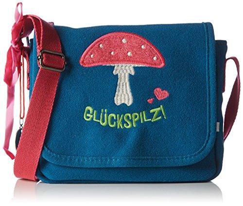 Adelheid Glückspilz Kindergartentasche 13250135935 Mädchen Mädchenhandtasche 16x20x7 cm (B x H x T), Blau (petrol 211)
