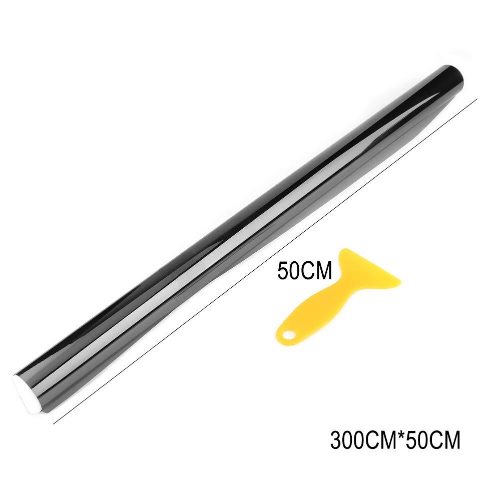Lichtdurchl/ässigkeit 25/% Broadroot 3mx50cm VLT Schwarz Auto Folie Sonnenschutz Badezimmer Glas T/önungsfolie T/önung Filmrolle mit Schaber