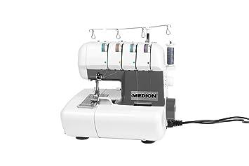 MEDION MD 16600 - Máquina de coser (Máquina de coser automática, Blanco, Overlock, Paso 4, 5 mm, 1300 RPM): Amazon.es: Hogar