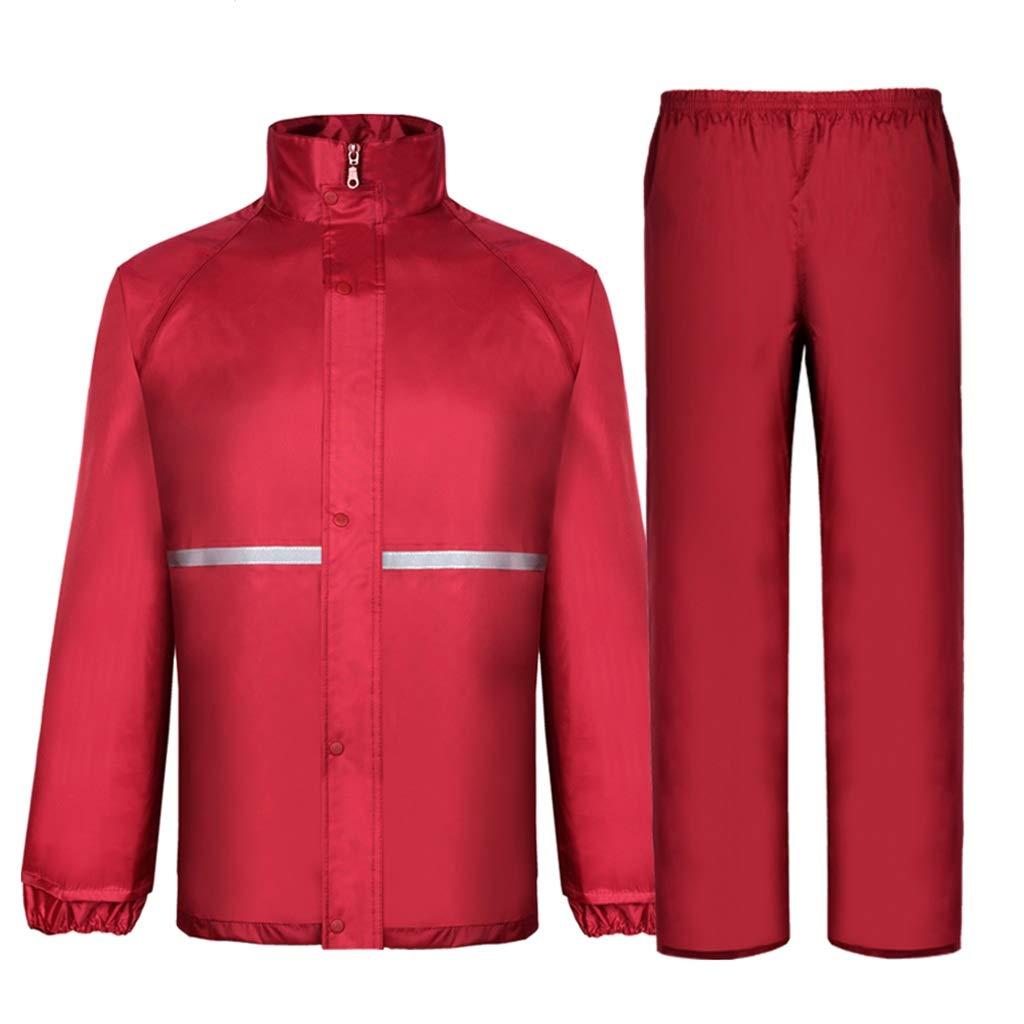 B X-grand Imperméable imperméable Ensemble de Pantalons de Pluie Double imperméable pour Adulte Moto imperméable (Taille  L XL   2XL   3XL) (Couleur   B, Taille   L)
