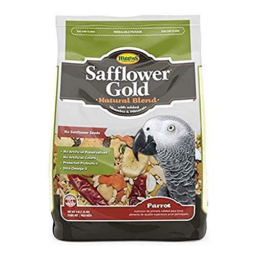 Higgins 466121 Safflower Gold For Parrots – 3 Pound