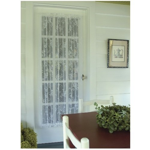 Heritage Lace English Ivy 48-Inch Wide by 45-Inch Drop Door Panel, White ()