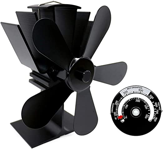 XMAGG Ventilador Estufa Grande de 5 aspas para un Espacio Grande ...