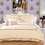 Hotel Embroidery Bedding Sets - Pure Cotton Patch Design Reactive Printing Healthy Home Textiles Full Duvet Cover Set