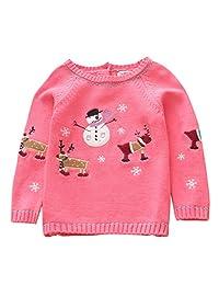Vine Kids Christmas Jumpers Baby Boys Girls Pullover Crewneck Reindeer Sweater