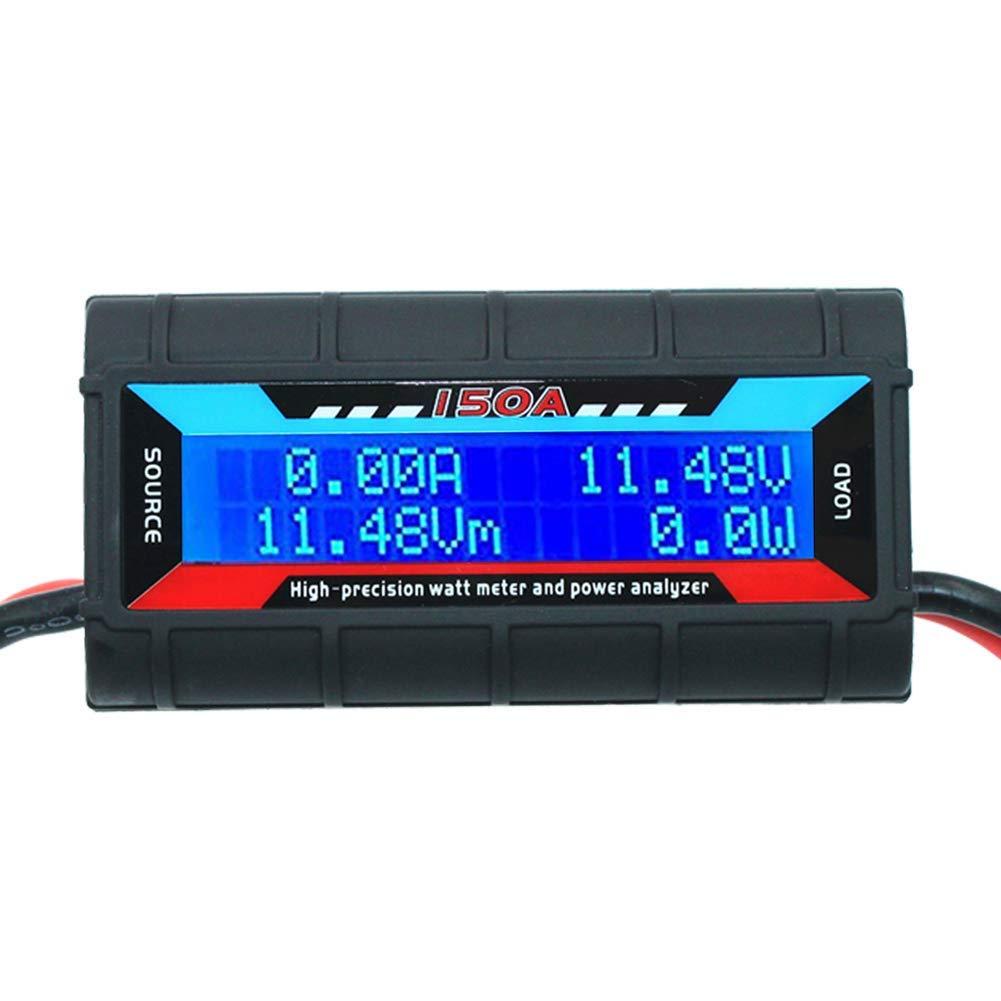 RGBZONE 150 Amps Power Analyzer, High Precision RC with Digital LCD Screen for RC, Battery, Solar, Wind Power by RGBZONE