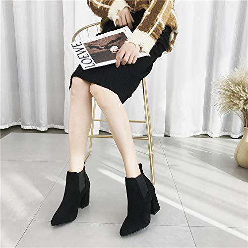 HRCxue High Heels Fashion High Heels Spitzen Schuhe mit dick mit Schuhe Damen Stiefel Ärmel Kurze Stiefel 61d4a0