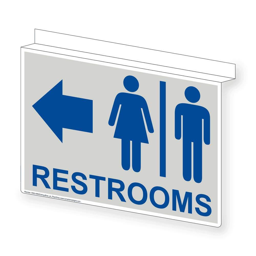 Amazon.com: compliancesigns Restroom Sign de techo, 14 x 10 ...