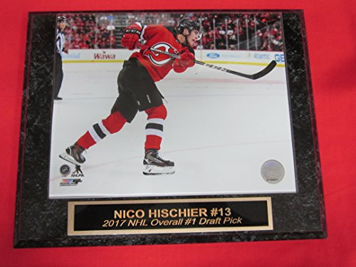 Nico Hischier New Jersey Devils Engraved Collector Plaque w/8x10 Photo - Jersey New Plaque Devils