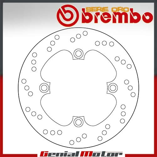68B40749 Disco Freno Fisso Brembo Oro Posteriore Speed Triple 333179 1050 2007