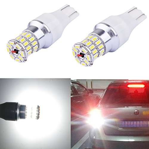 Alla Lighting Super Bright 912 921 LED Backup Light Bulb W16W 912 921 LED Bulb 6000K Xenon White High Power 3014 36-SMD T15 Wedge LED 921 Bulb Back Up Reverse Light Bulbs Lamps (Set of 2)