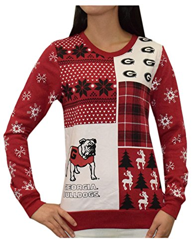 GEORGIA BULLDOGS Womens NCAA Athletic Pullover Thermal Sweatshirt S (Georgia Bulldogs Ncaa Thermal)