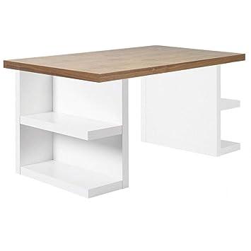 Escritorio Design TemaHome Multi Storage 180 x 90 Nogal: Amazon.es ...