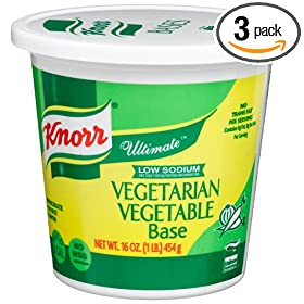 Knorr Ultimate Vegetarian Vegetable Soup Base, Low Sodium, 16-Ounce Tubs (Pack of 3)