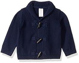 Gymboree Baby Girls\' Toddler Boys\' B S Navy Toggle Sweater, Merchant Marine, 3-6 Months