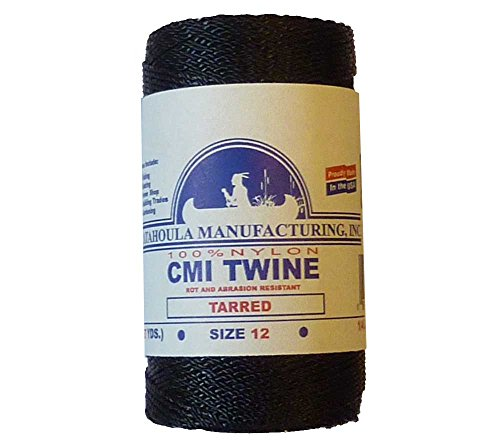 Catahoula Manufacturing #12 Tarred Twisted Nylon Twine (Bank Line) 395' Spool, 100lb Test (Seine Twine)