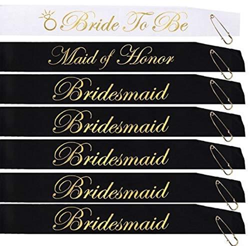 21 PIECE BACHELORETTE PARTY SASH SET:Bride to be