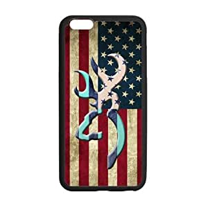 Canting_Good Browning Cutter Logo Vintage American Flag Custom Case Shell Skin for iPhone6 Plus 5.5 (Laser Technology)