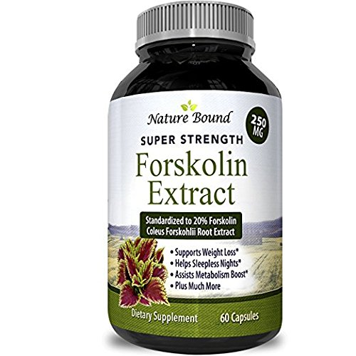 Best Forskolin Supplement for Weight Loss Natural Forskolin Diet Pills Fat Burner for Men & Women Boosts Metabolism Appetite Suppressant Pure Standardized 20% Forskolin Capsules Nature Bound