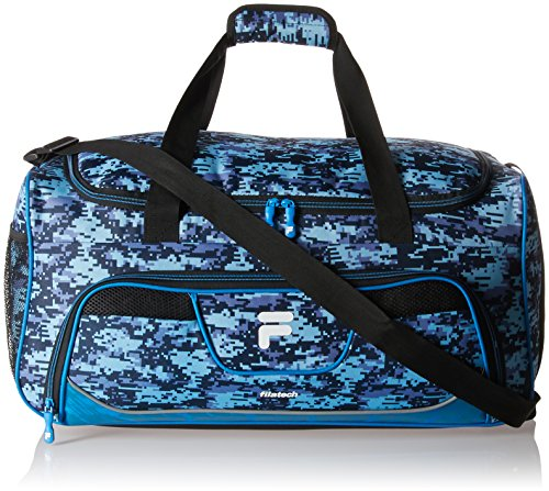 Fila Speedlight Medium Duffel Sports Gym Bag, Blue Digi Camo, One Size
