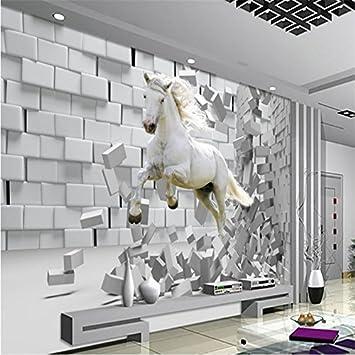 Sproud Große benutzerdefinierte Wand Broken Wall White Horse ...