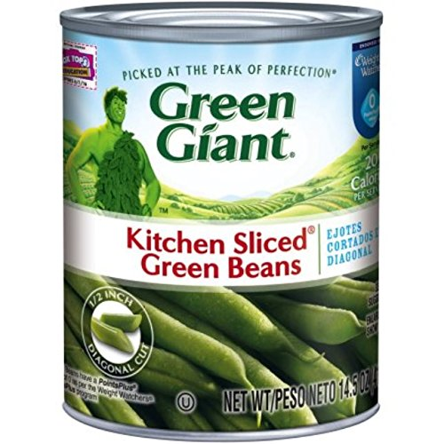 Green Giant Vegetables - Green Giant Kitchen Sliced Green Beans, 14.5 Ounce (Pack of 24)