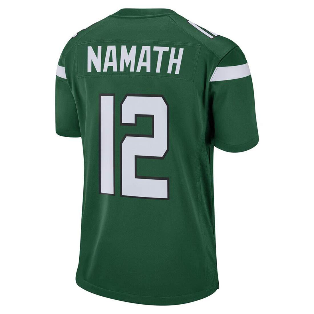 Womens//Mens/_Joe/_Namath/_Green/_Jersey/_Shirt