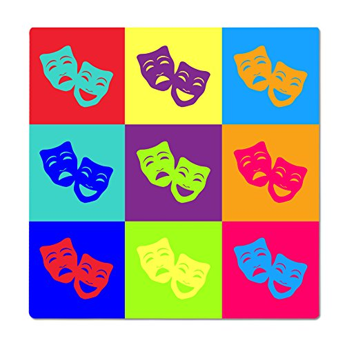 Comedy/Tragedy Mask Pop Art 12 inch Square Aluminum Print