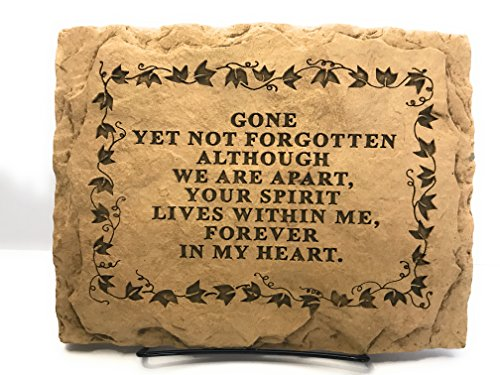 Kay Berry Gone yet not forgotten Although We are Apart Your Spirit Lives Within Me Forever in My Heart; Comfort Stone Sympathy Gift: 8