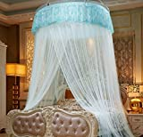 BEIRU Dome To Increase Mosquito Net Landing Floor Lace Installation Nets Ceiling Increase Encryption Ceiling Net ZXCV (Color : White, Size : 2.2m)
