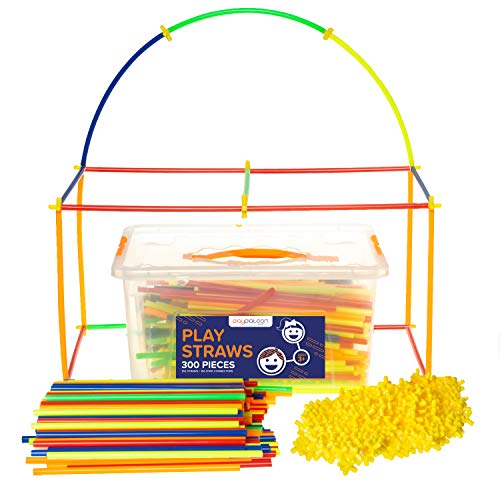 (Play Straws Set - 300 Piece Toy Straw Connectors for Creative Building - Educational STEM Toys for Boys &)