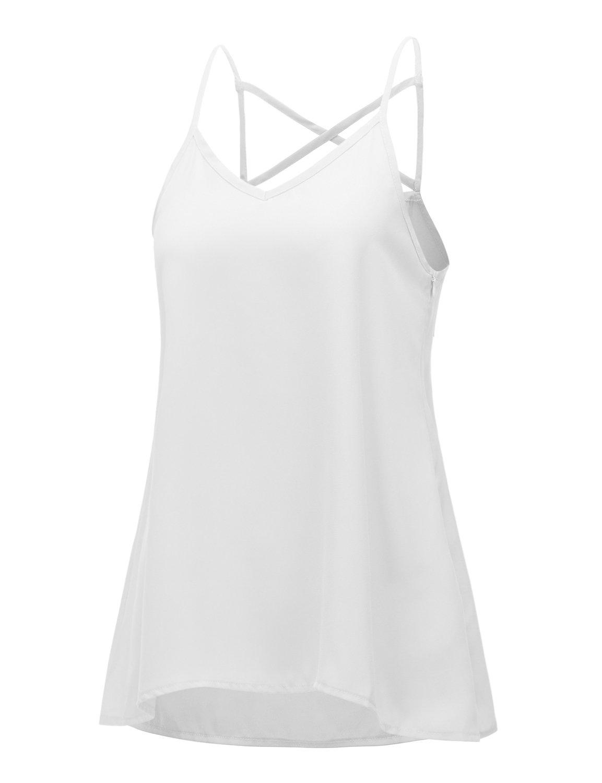 Regna X SHIRT レディース B071CTZ94Z 3L|Strappy White