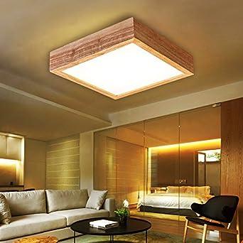 Yxhflo Led Decke Mit Hellen Holzmöbeln Minimalistisch Square Chinesischen  Schlafzimmer Aus Hellem Holz Lampen Licht