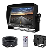 Backup Camera and Monitor Kit for Van, RV, Upgraded 175º Wide View Wired