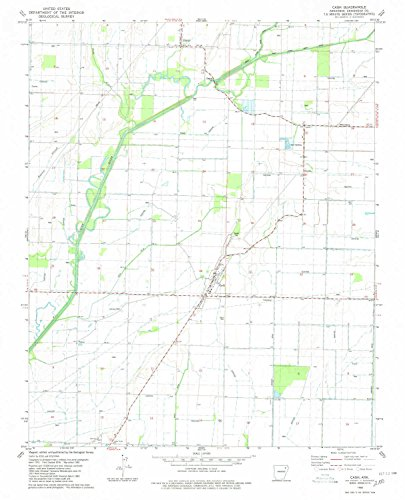YellowMaps Cash AR topo map, 1:24000 Scale, 7.5 X 7.5 Minute, Historical, 1980, Updated 1980, 26.7 x 21.6 in - - Gps Gunner