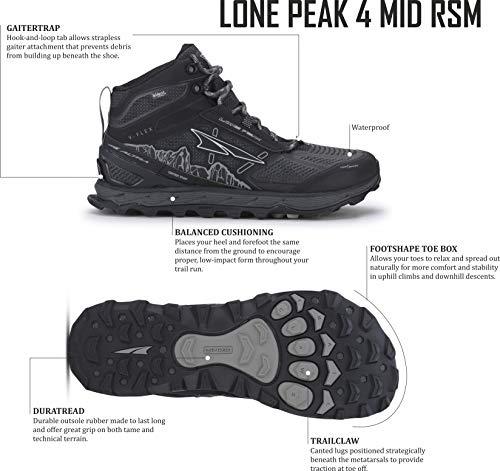 ALTRA Men's Lone Peak 4 Mid RSM Waterproof Trail Running Shoe 2